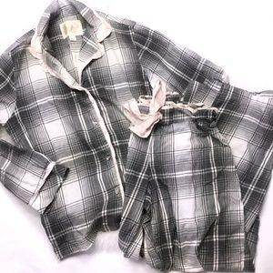 Victoria's Secret Grey Plaid Pajama Set